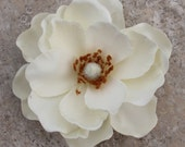 Ivory Magnolia hair flower
