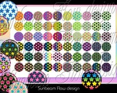 INSTANT DOWNLOAD - 1/2 0.5 inch baby Circles Stars 03 Polka dots Bottle cap Hair Bow Centers Jewelry Pendant Resin Stickers Print Your Own