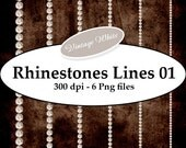 INSTANT DOWNLOAD - Brilliant Rhinestones 01 vintage Png Digital Decorative Images ScrapKit Layout Cards Aceo ATC Stickers Print Your Own
