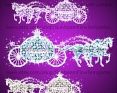 INSTANT DOWNLOAD - Cinderella wedding carriage 01 clip art PNG elements Digital lady Images Scrapbooking Scrap Invitations Print Your Own