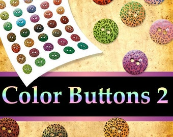 INSTANT DOWNLOAD - Buttons 02 Png Digital Images Transparent Backgrounds Cliparts Scrap kit Tags Card aceo atc Sticker Print Your Own Pyo