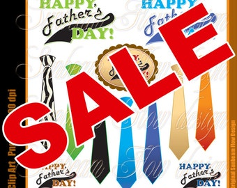 INSTANT DOWNLOAD - Fathers day 01 Ties Digital Clipart collection PNG Elements transparent background illustration Invitations Card diy pyo