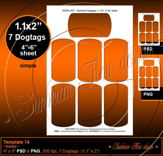 etsy shop policies template - instant download dog tags 14 template by sunbeamflowtemplates