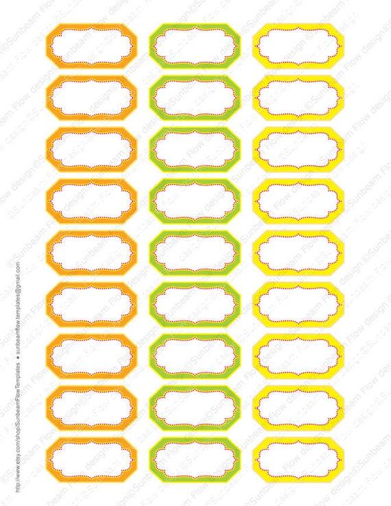 Conosciuto INSTANT DOWNLOAD etichette di spezie & erbe 05 bianco giallo KF59