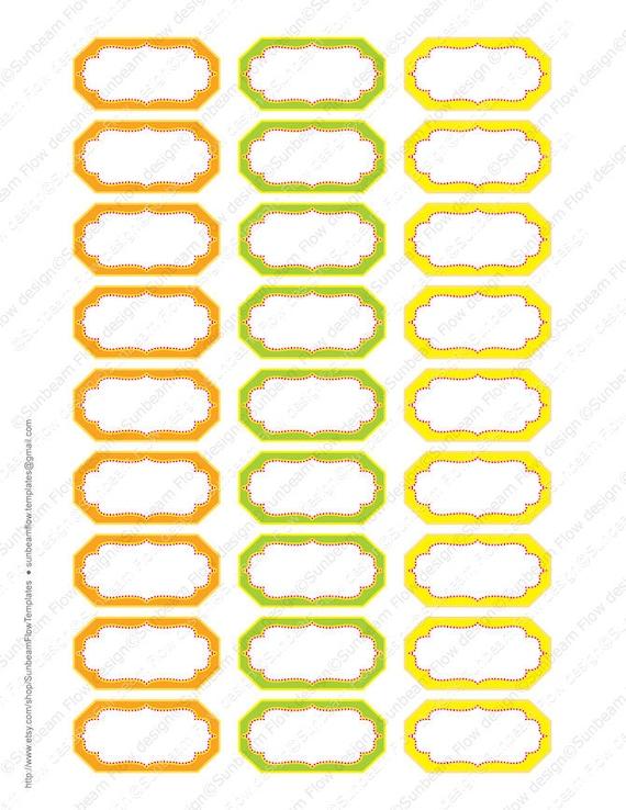 Instant Download Spices Amp Herbs Labels 05 Orange Green