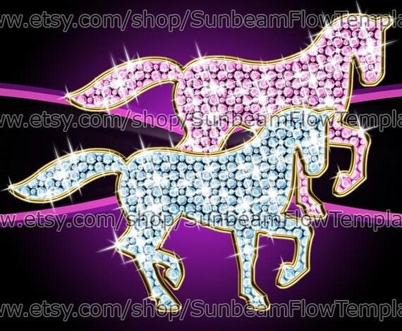 INSTANT DOWNLOAD - Princess horses 02 clip art PNG elements Digital Decoration lady Images Scrapbooking Scrap kit Invitations Print Your Own