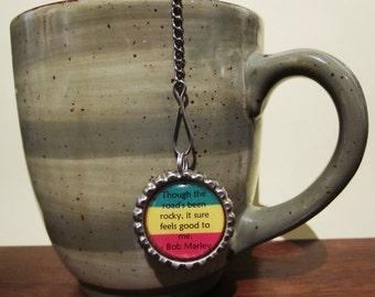 "Tea Infuser - Bottle Cap Charm - rocky road 2"" Mesh Ball"
