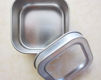 Magnetic Tins - Spice, Herbs, Tea, Home Organization - Set of 6 small