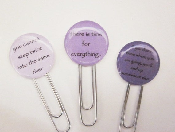 Paperclip Bookmark / Gift Tags - Reflection. Set of 3