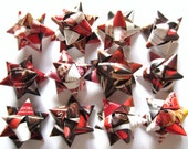 12 Recycled Magazine Earth Friendly Gift Bows- All Valentine Themed