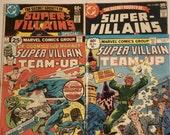 1970s DC and Marvel Comics Super Villains Lot of 4