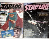 1970s Star Wars and Superman lot of 2 by Starlog Comics