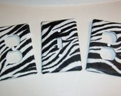 Light Switch Plate and Outlet Covers with Zebra Stripe Pink Zebra
