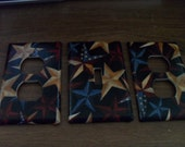 Light Switch Plate/Outlet Covers w/ Barn Texas Stars Country Americana