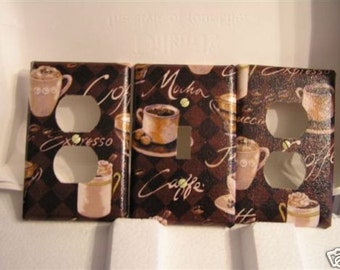 Light Switch Plate/Outlet Covers w/ Coffee, Cafe, Mocha