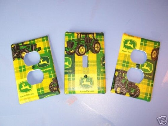 Red Tractor Plate Outlit : Light switch plate outlet covers w john deere by snazzyetc