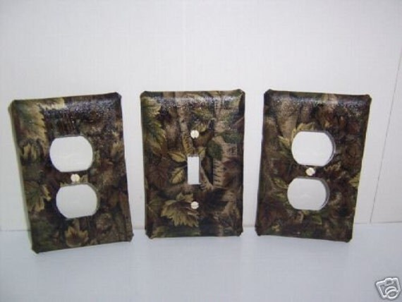 Light Switch Plate/Outlet Covers with Camouflage by snazzyetc