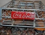 Steel Coca Cola Crate - Case - Vintage - 24 Pack