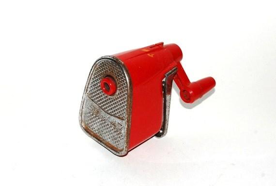 RESERVED FOR CHERI - Swingline pencil sharpener - red - vintage