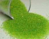 kawaii fake sugar sprinkles / microbeads lemon lime half ounce / 14 grams miniature Supplies yellow green translucent