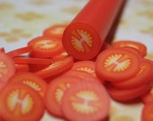 polymer clay cane uncut tomato 1pcs for miniature foods salad topping sandwhiches pizza decoden and nail art supplies