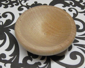 miniature wood bowl unfinished DIY playscale fashion doll kitchen salad bowl dollhouse 1:6