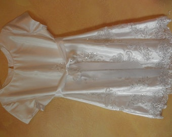 White flower girl dress sz 10-12