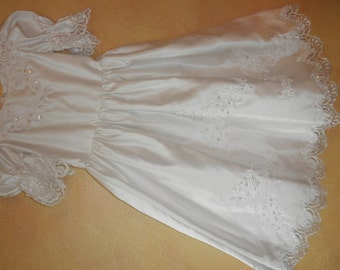 White flower girl dress sz 4