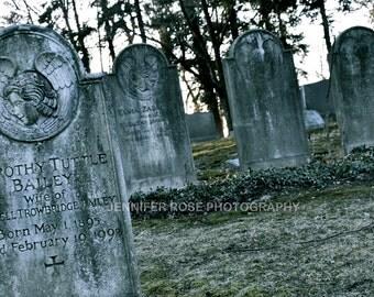 Graveyard Haunted Photo Print
