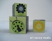 Set of three Magnets - Lucky Ladybug Set
