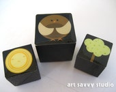 Set of three Magnets - Gus the Birdy Set