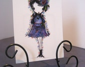 """ACEO Print of Original Illustration with Colored Pencil - """"Anna"""" - Full Image"""