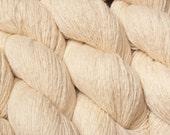 Vanilla Cream Recycled Cashmere Wool Yarn 200 Yards