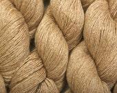 Heather Gold recycled silk cashmere yarn 688 yards