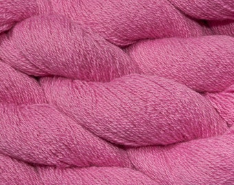 Hot Pink Ply Cashmere, Heavy Lace Weight Cashmere, 794 Yards Total Available, Bubble Gum Pink Two