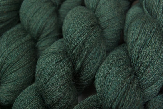 Reserved Italian Merino Yarn Recycled Yarn Celtic Green Lace Weight Merino Yarn 654 yards