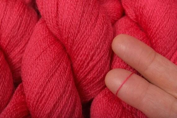 Recycled Yarn, Coral Pink Merino, 573 yards