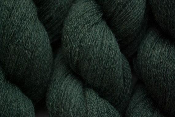 Recycled Yarn, Reclaimed Merino, Lace Weight Merino, Deep Hunter Green Extra Fine Merino, 547 yards