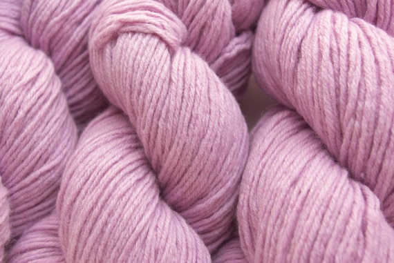 Recycled Yarn, Lavender Pink Lambswool Nylon, Bulky Weight, 3.4 ounces, 96 yards