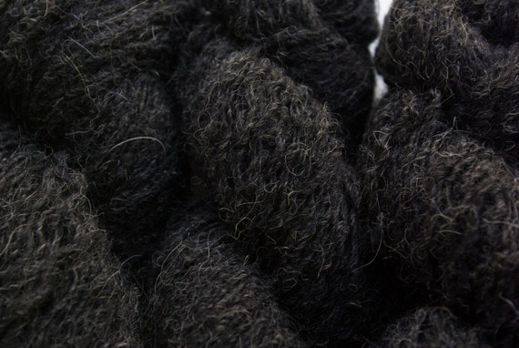 Recycled Yarn, Charcoal Alpaca blend, 102 yards