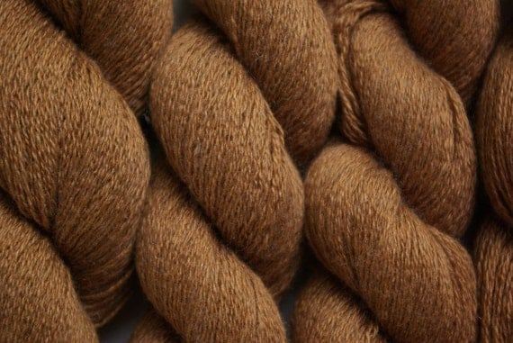 Recycled Yarn Tawny silk cashmere lace weight 408 yards