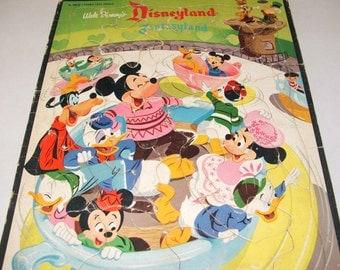 1956 Walt Disney Productions Disneyland Fantasyland Puzzle by Whitman Publishing Co. Rare