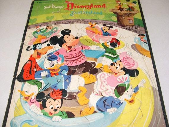 1956 Walt Disney Productions Disneyland Fantasyland Puzzle by Whitman Publishing Co. Rare
