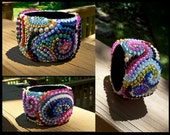 Handmade, One of a Kind Swirl Embellished bracelet