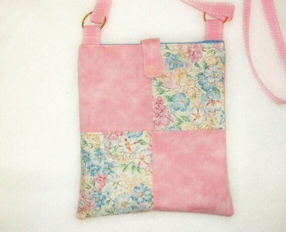 Messenger Bag, Nook Kindle eReader Bag, Swing Bag, Pink Pastel, Shoulder Bag, Pink Purse
