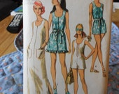 misses dress in two lengths and swim pant cut pattern simplicity 8837