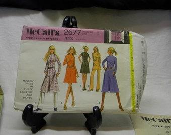 1970 womens dress and pants pattern, Mcalls  2677 uncut