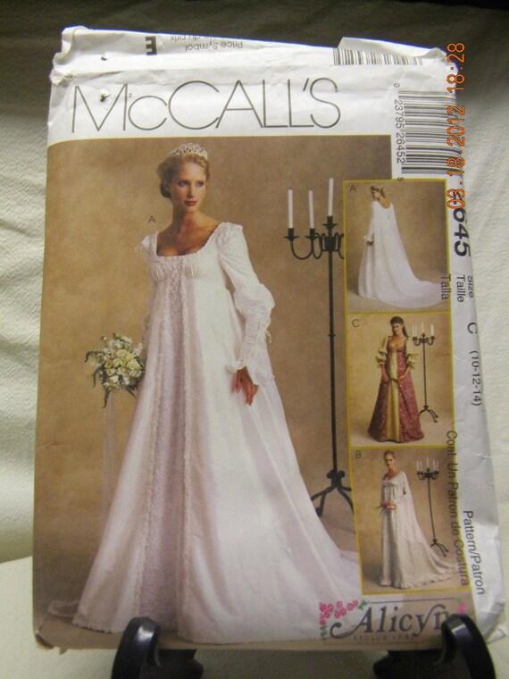 Misses bridal gown pattern mccalls 2645 for Wedding dress patterns mccalls