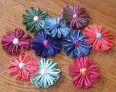 Raffia Flowers (Custom Raffia Flowers) Multi colored