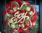 Holiday Fun Christmas Mesh Wreath
